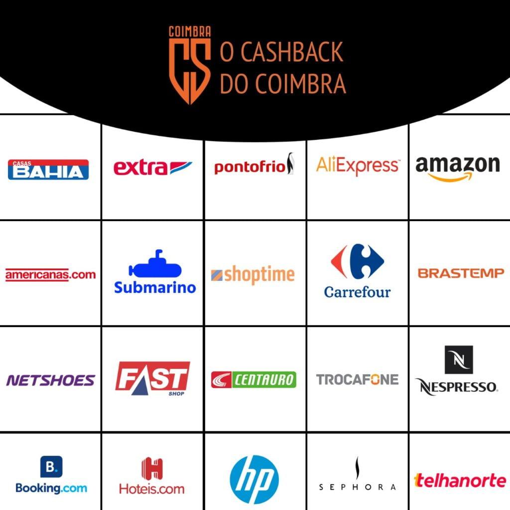 CHEGOU O CASHBACK DO COIMBRA!